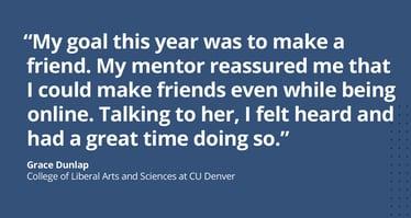 CU Denver student Mentor Collective