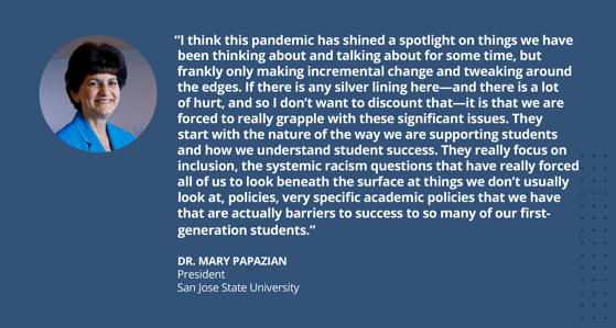 Dr. Mary Papazian, San Jose State University